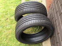 x2 no PIRELLI P Zero run flat tyres new