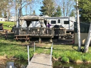 WATERFRONT!!! 31' seasonal trailer for sale.