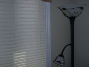 Pleated window blinds - 34.25 x 52.5 inches