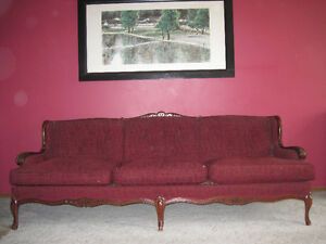 Antique Provincial  re-upholstery sofa and chair