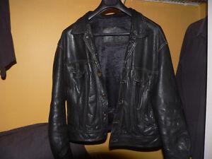 Unique Black Leather Jacket - denim jacket design