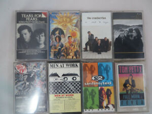 Mixed Lot of 8 Cassette Tapes 1980's Tears for Fears Cranberry