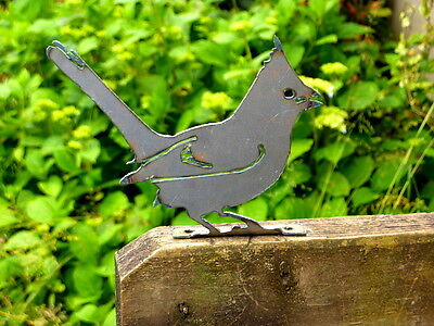 Cut Metal Rusty Cardinal Bird Garden Home Yard Lawn Outdoor Window Art Decor