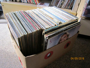 Box Of 150 Various French & Acadian Records For Sale