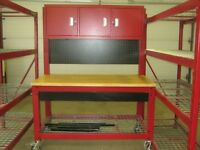 Snap on industrial tool shelves and workbench
