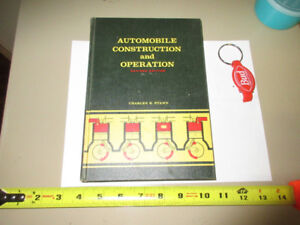 AUTOMOBILE CONSTRUCTION & OPERATION BY CHARLES R. STAHN 'REVISED
