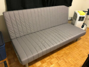 Futon Couch Bed White Vegan Leather