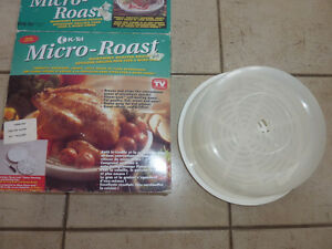 Micro Roast and Micro Brown gadgets, Microwave lid $ 3 each