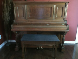 Beautiful Antique Nordheimer Upright Piano - Amazing Condition