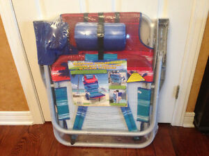 New Back pack cooler chair