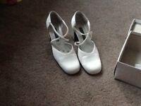 Ivory shoes, size 7