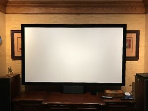 """Projector  Screen  (Silverticket)  92"""" in size. Fixed Frame."""