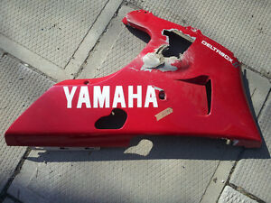 Yamaha R1 1000 lower panel red 98 99 00 01 body fairing plastic