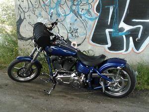 Harley Rocker C 2009 BCP chrome 2 set exhaust et 2banc