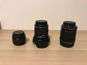 Canon Lens Combo *Mint Condition 10/10*