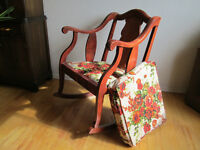 Old chairs and tables