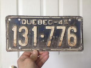 Plaques d'immatriculation du Québec