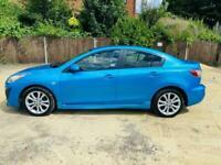 2009 blue mazda 3 2.2 diesel sport 4dr saloon ideal family car cheap runner