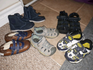 Boys size 7 toddler shoes, sandals, slippers