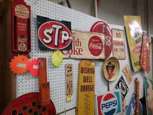 Nostalgia signs, tins license plates plus 600 booths full Peterborough Peterborough Area image 1