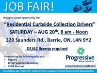 JOB FAIR - Saturday, Aug 20 for DZ Drivers (Curb Side)