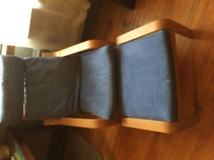IKEA lounge chair with foot stool