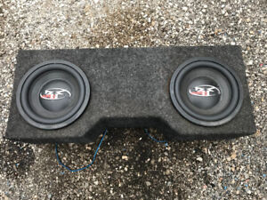 """12"""" Rockford Fosgate Punch Axe subwoofers with box for sale."""
