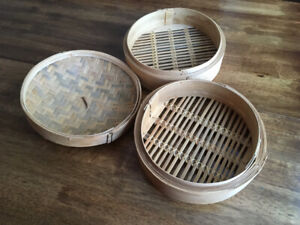 Bamboo steamer 3 Peice