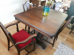 Dining Table, Chairs, China Cabinet and Buffet