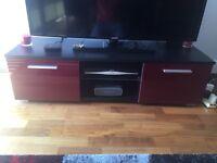 Modern TV Unit, TV Cabinet, 120 cm, Red