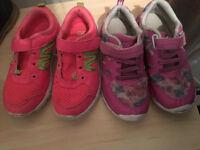 2 pairs of Girls trainers