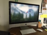 "iMac 27"" mid 2011 3.4GHz 4GB intel core i7 1TB HDD"