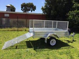 7x4 Gal Ramp Box Cage Lawn Mower Bike Trailer Wetherill Park Fairfield Area Preview