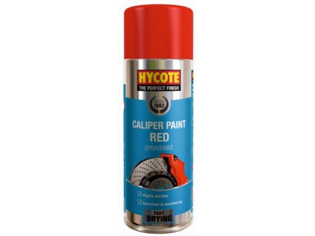2 x Hycote Brake Caliper Spray Paint Red Gloss 400Ml Aerosols ( 2 Cans)