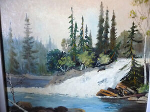"Algonquin, Original Oil Painting by R. Dogger ""Wild River"" 1950 Stratford Kitchener Area image 2"