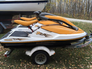 2 - 2004 Sea Doo 3D Stand Up Jet Ski's & Shorland Double Trailer