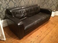 Leather sofa x 2 (delivery available)