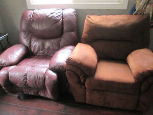 SWAP/TRADE Big Leather Recliner +Another Suede Recliner READ