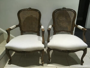 Pair of Country French Louis XV Style Cabriolet Armchair