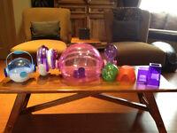 Habitrail OVO hamster cage & accessories