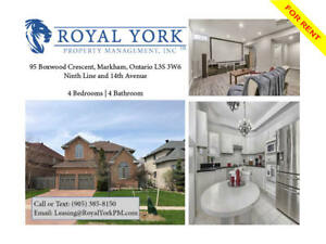 4 BED / 4 BATH - UPGRADED HOUSE FOR RENT @MARKHAM
