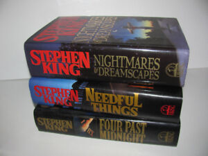 3 Stephen King early 90s First Edition Hardcover Novels