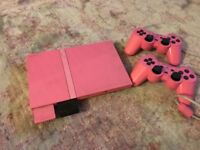 Sony PlayStation 2 PS2 in pink