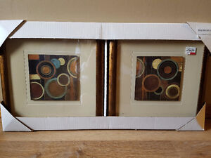 Brand new framed pictures - 2 pieces