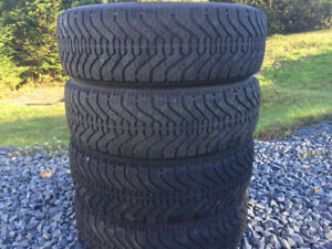 Four Good/Year Nordic P185/65R15 Winter Tires
