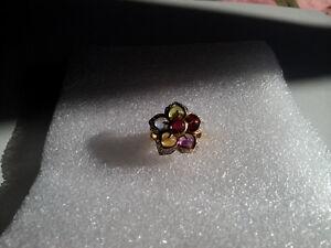 Multi Gemstone Ring Size 6