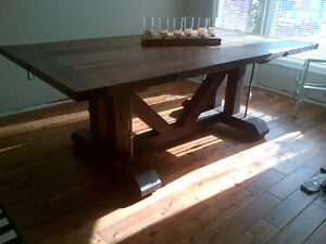 CUSTOM HAND CRAFTED FARMHOUSE HARVEST TABLES Peterborough Peterborough Area image 2