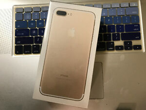 iPhone 7plus 256 gb unlocked gold band new