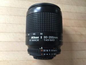 AF Nikkor 80-200mm f4.5-5.6D zoom