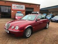 2006 Jaguar S-TYPE 3.0 V6 SE auto Red Low Miles, **ANY PX WELCOME**